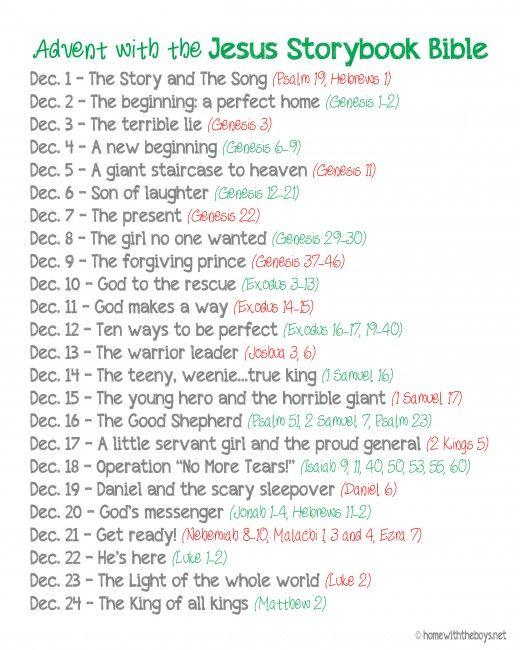 Free Printable The Jesus Storybook Bible Advent Reading Plan Advent Reading Plan Advent Readings Christmas Advent