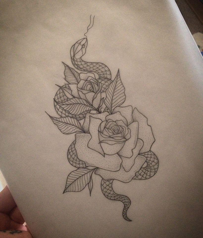 Lou Hopper Is Stunning Beautiful Stunning Tattoos: Rose & Snake Tattoo By Medusa Lou Tattoo Artist