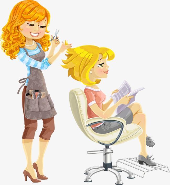 salon cartoon hair hairdresser beauty hairdressing clip background woman salons vector cute clipart barber haircut pngtree alphabet job friends