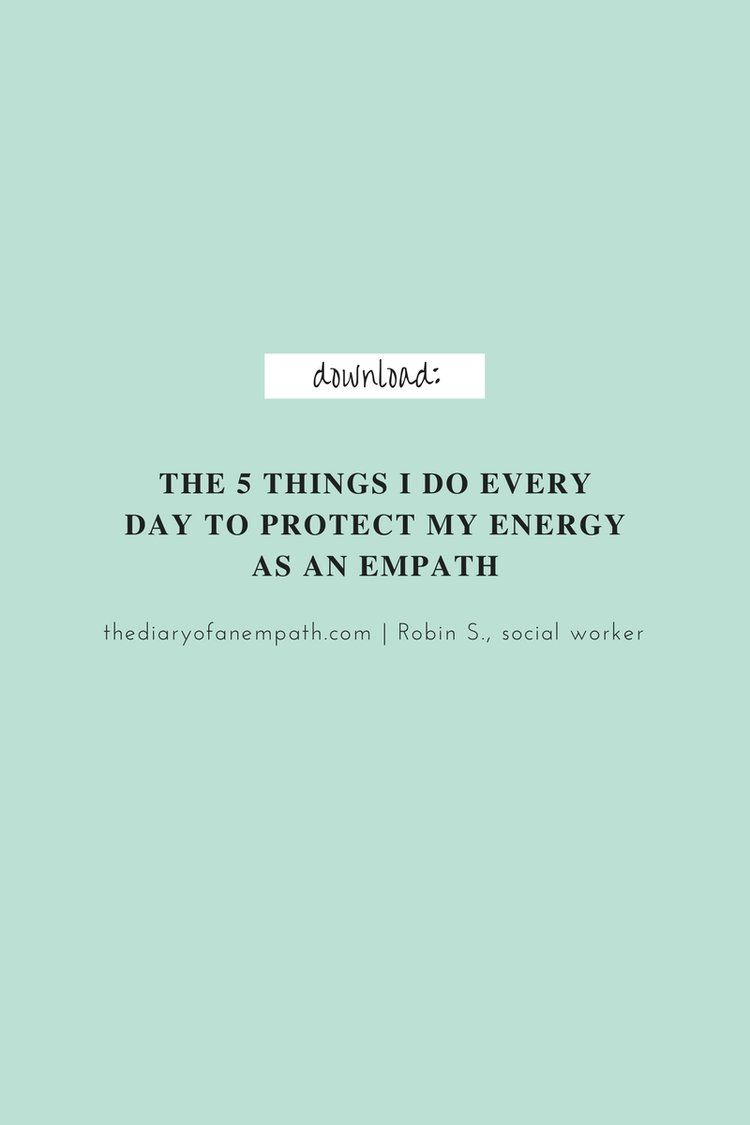 Dealing with being an empath