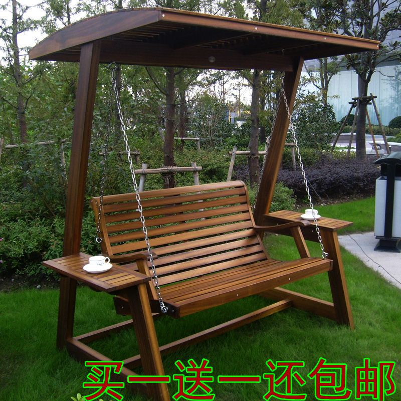 Personnalisés haut de gamme extérieure bois swing swing solide ...