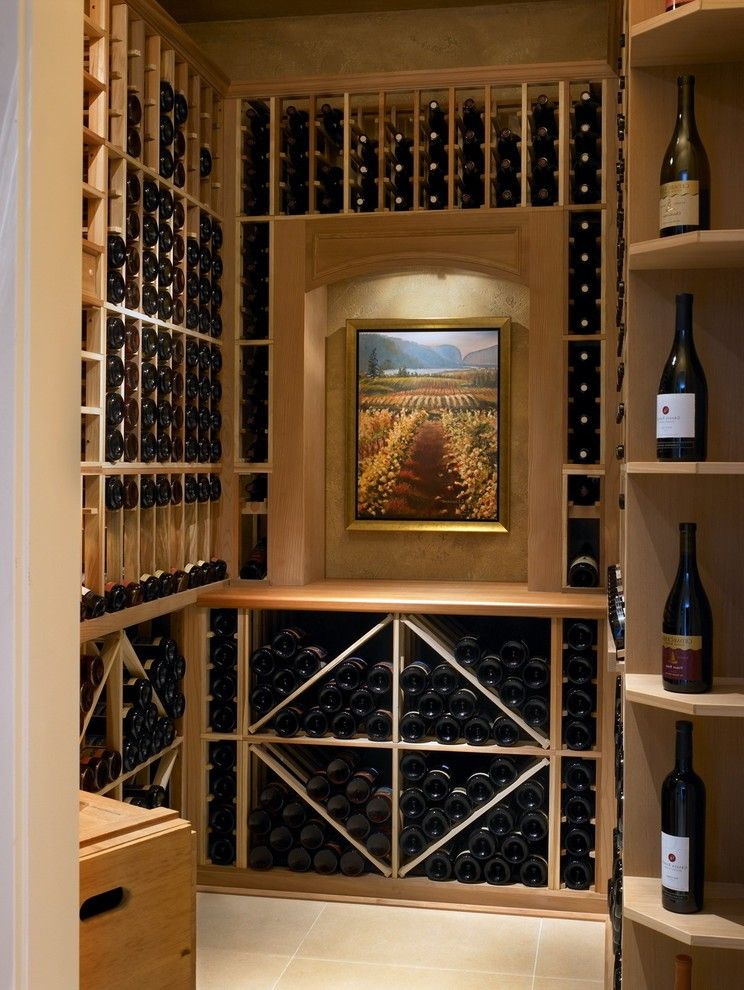 Wine Cellar Decor With Rack Wood Stairs Large Door