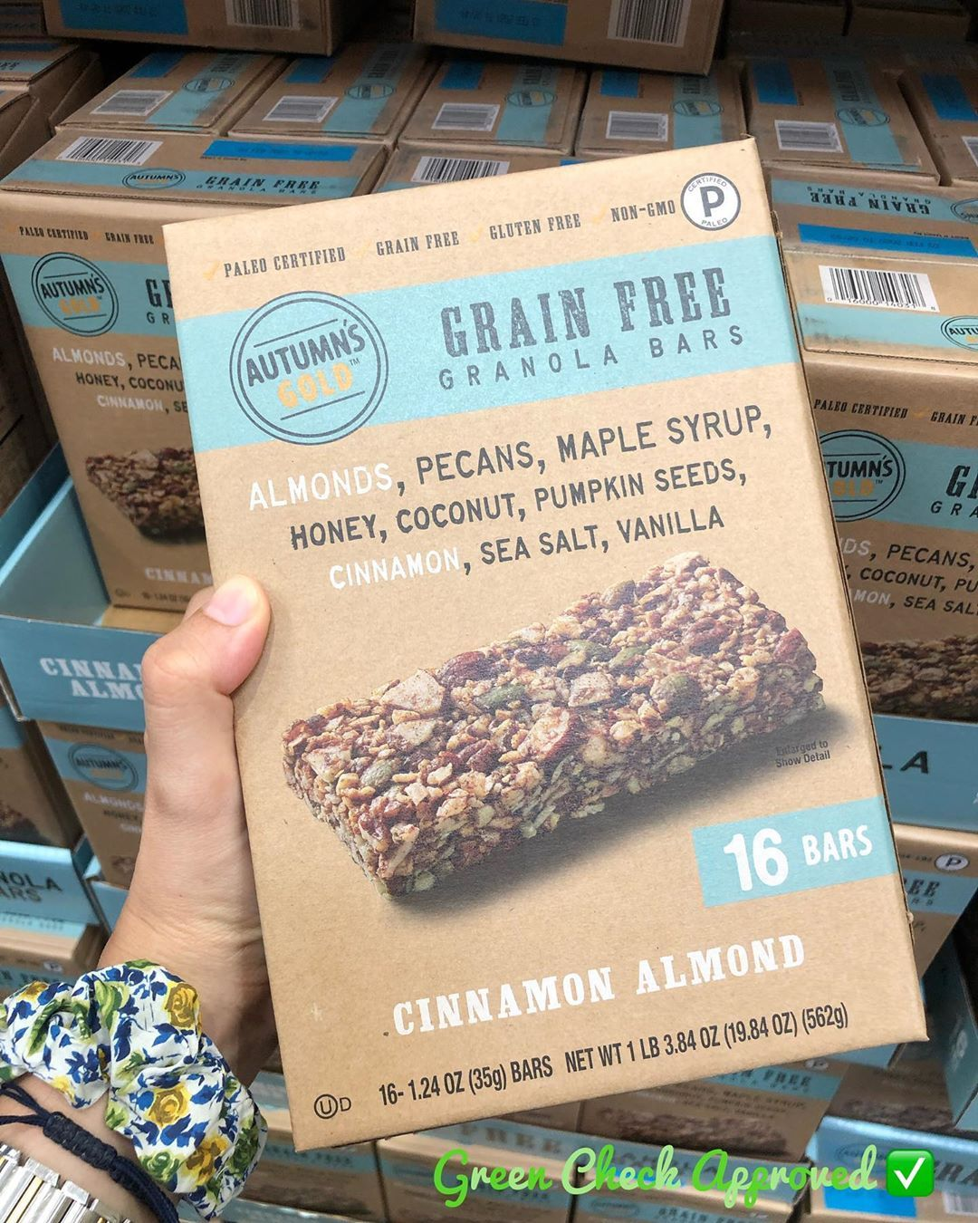 Autumns Gold Grain Free Granola Bar Is Blend Of Simple High Quality Ingredients Like Nuts Seeds And A Tou Vegan Recipes Healthy Grain Free Granola Bars Paleo