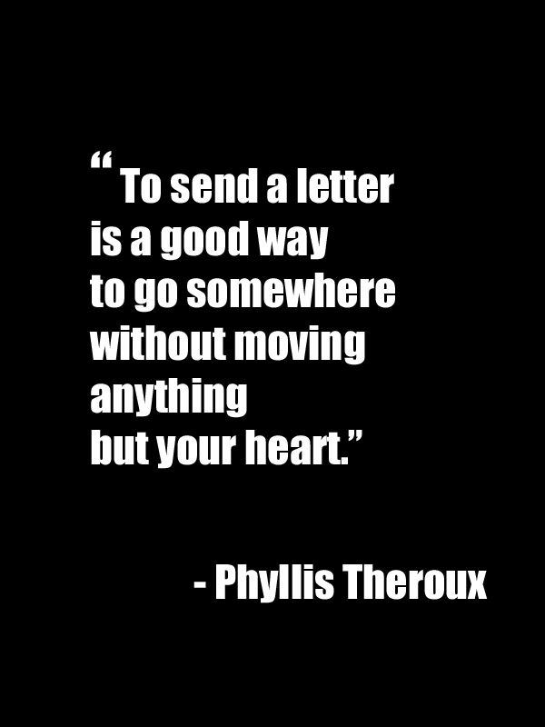We Love This Sending A Letter Means So Much More Than A Text Or