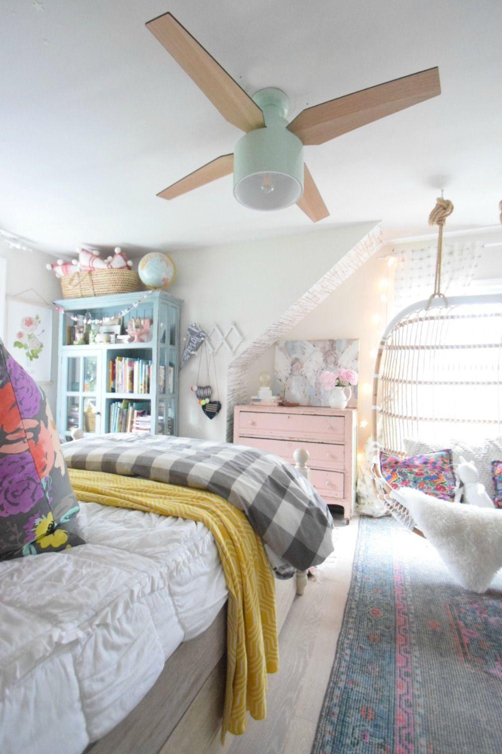 Tween Designed Bedroom Modern And Stylish Ceiling Fans Bedroom