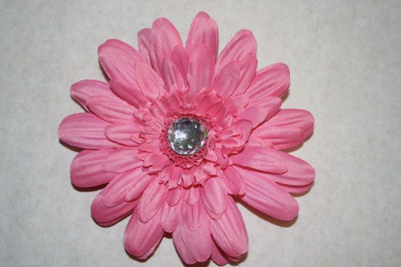 Pink Flower Hair Clip by MariasBowTique on Etsy, $2.50