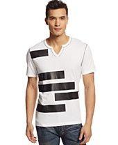 INC International Concepts Pomelio Split-Neck T-Shirt
