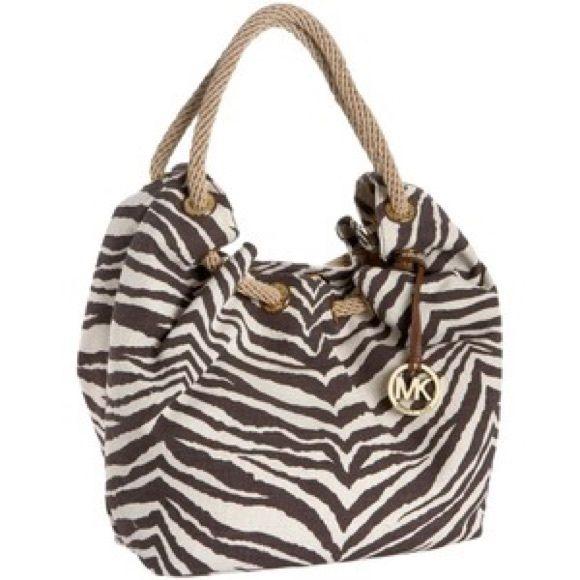 80da8698d244 Michael Kors Zebra Print Tote Great condition. Michael Kors Bags Totes