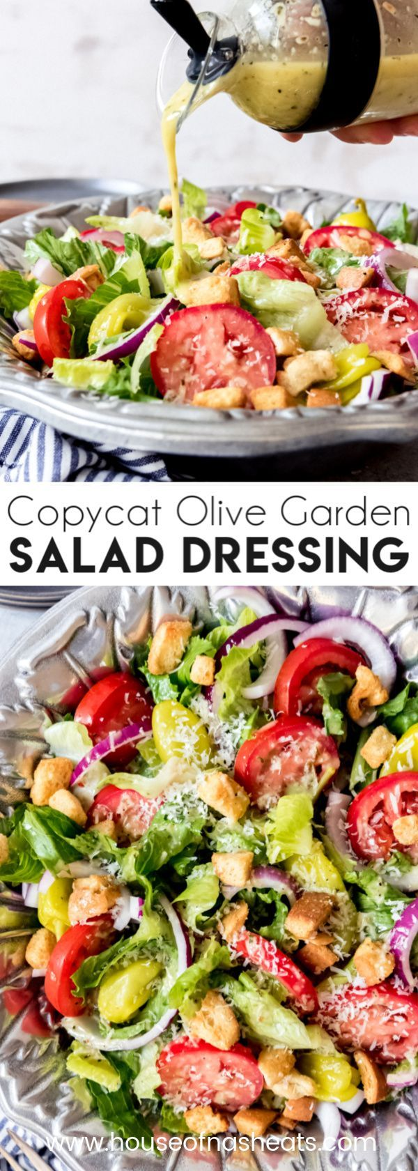 People are obsessed with this Copycat Olive Garden Salad