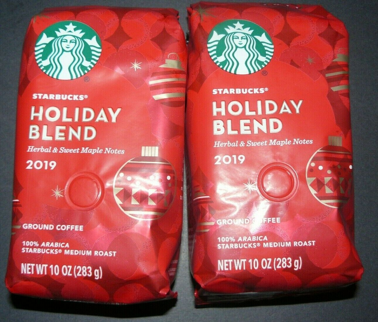 4 bags of starbucks holiday blend 2019 10 oz ground