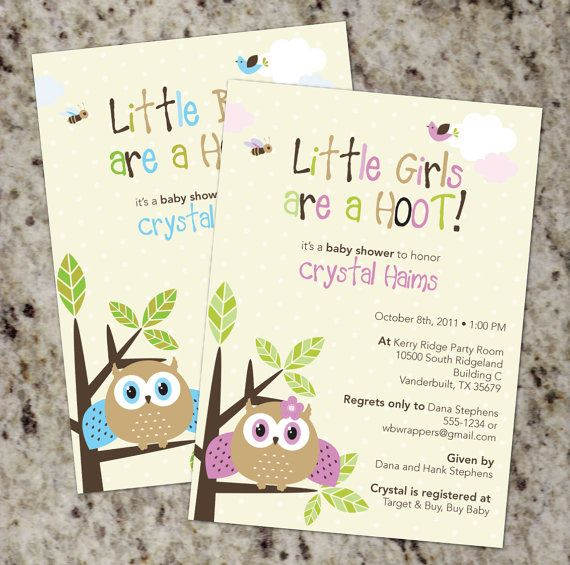 Chloes Inspiration Owl Themed Baby Shower Shower Invitations