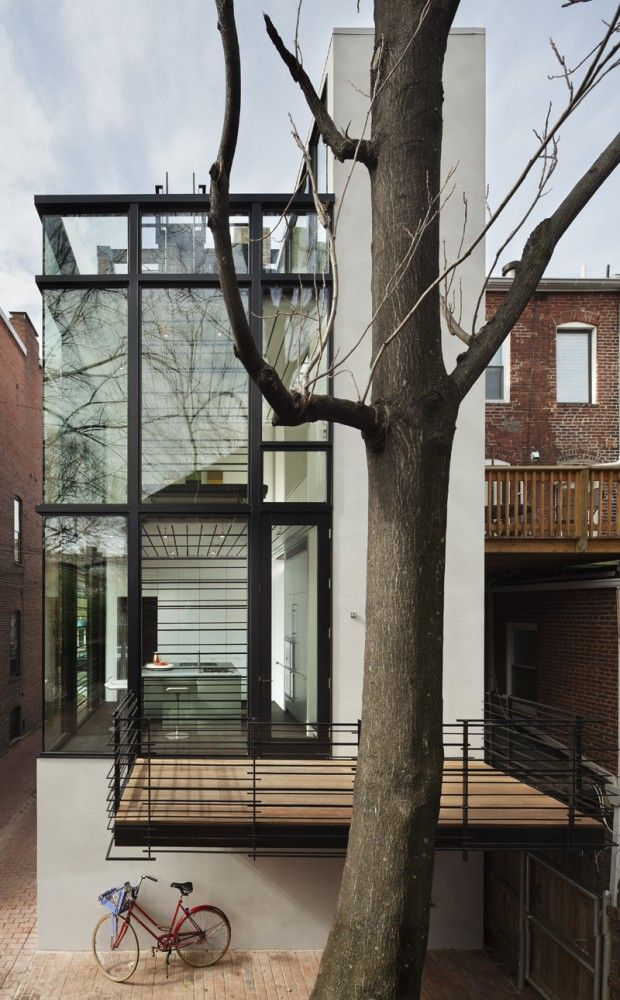 Different Architectural Styles Exterior House Designs: Barcode House / David Jameson Architect