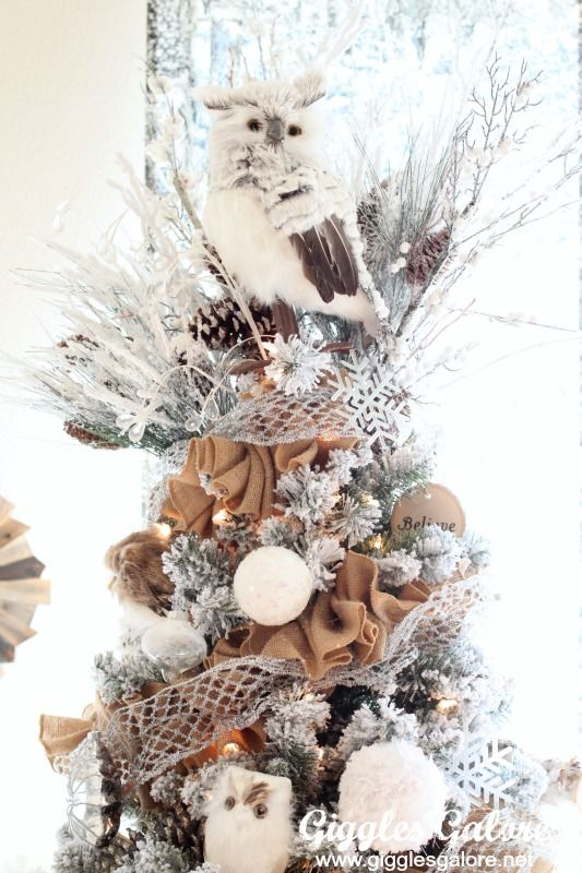 winter woodland christmas tree michaels dream tree challenge great tree topper owl christmas tree