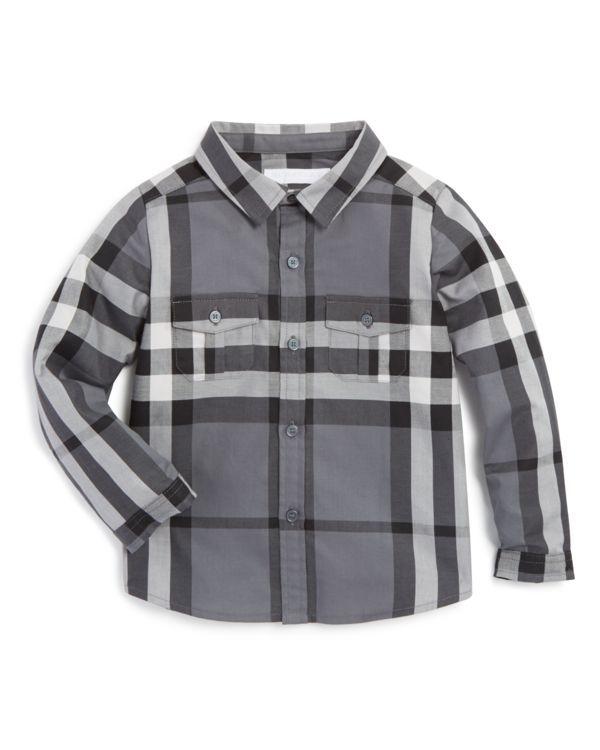 Burberry Boys' Check Print Trent Button Down Shirt - Sizes 6-36 Months