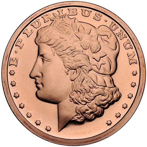 1 Oz Copper Round Morgan Silver Dollar Design 999 Fine Copper Round Features The Morgan Silver Dollar Design Originally Min Coins Gold And Silver Coins Copper