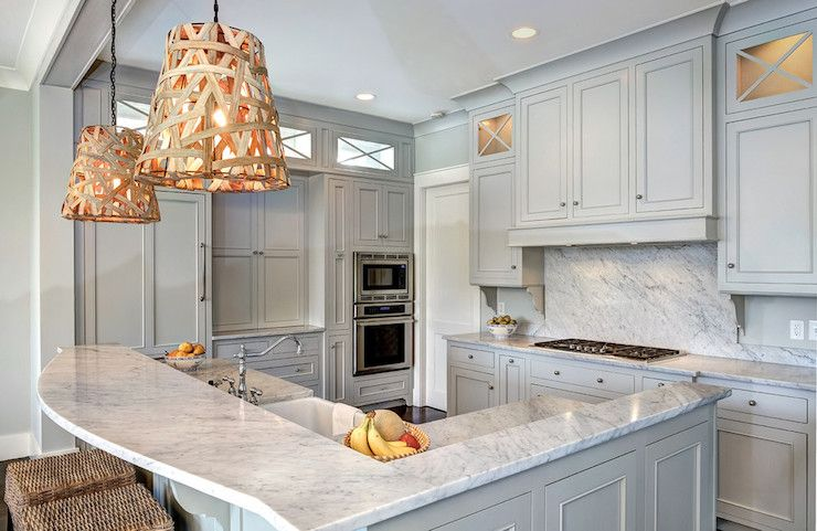 Grey Cabinets  Transitional  Kitchen  Benjamin Moore Gray Owl Custom Kitchen Design Grey Inspiration