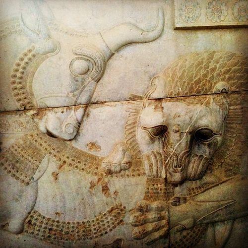 Persepolis Relief Zoroastrian Symbol Of Spring Arte Storia