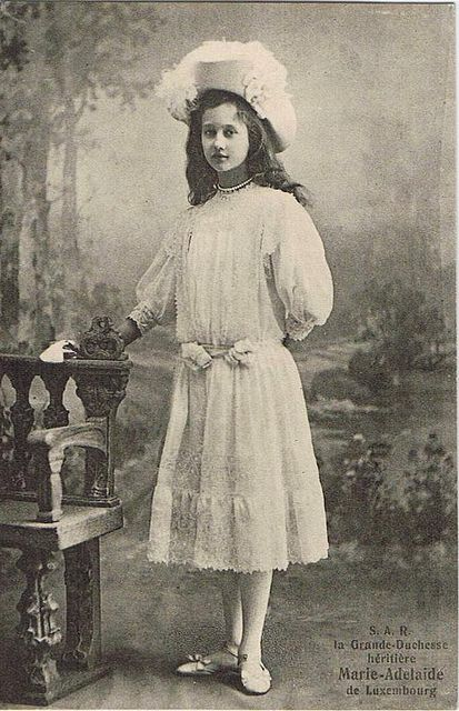 Grand Duchess Marie Adelaide of Luxembourg. Daughter of William IV, Grand Duke of Luxembourg.