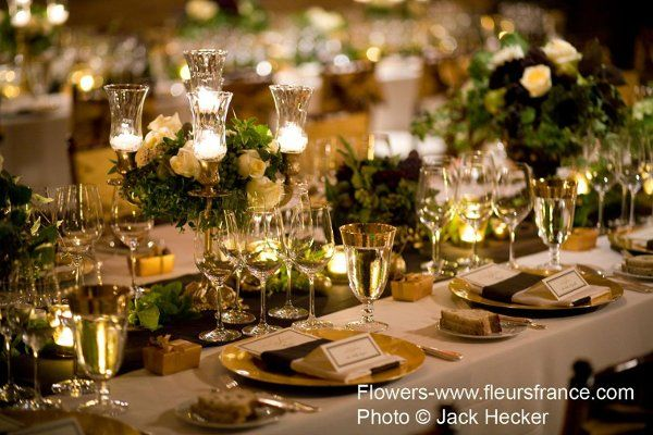 Brown And Gold Wedding Ideas: Gold And Ivory With A Touch Of Green