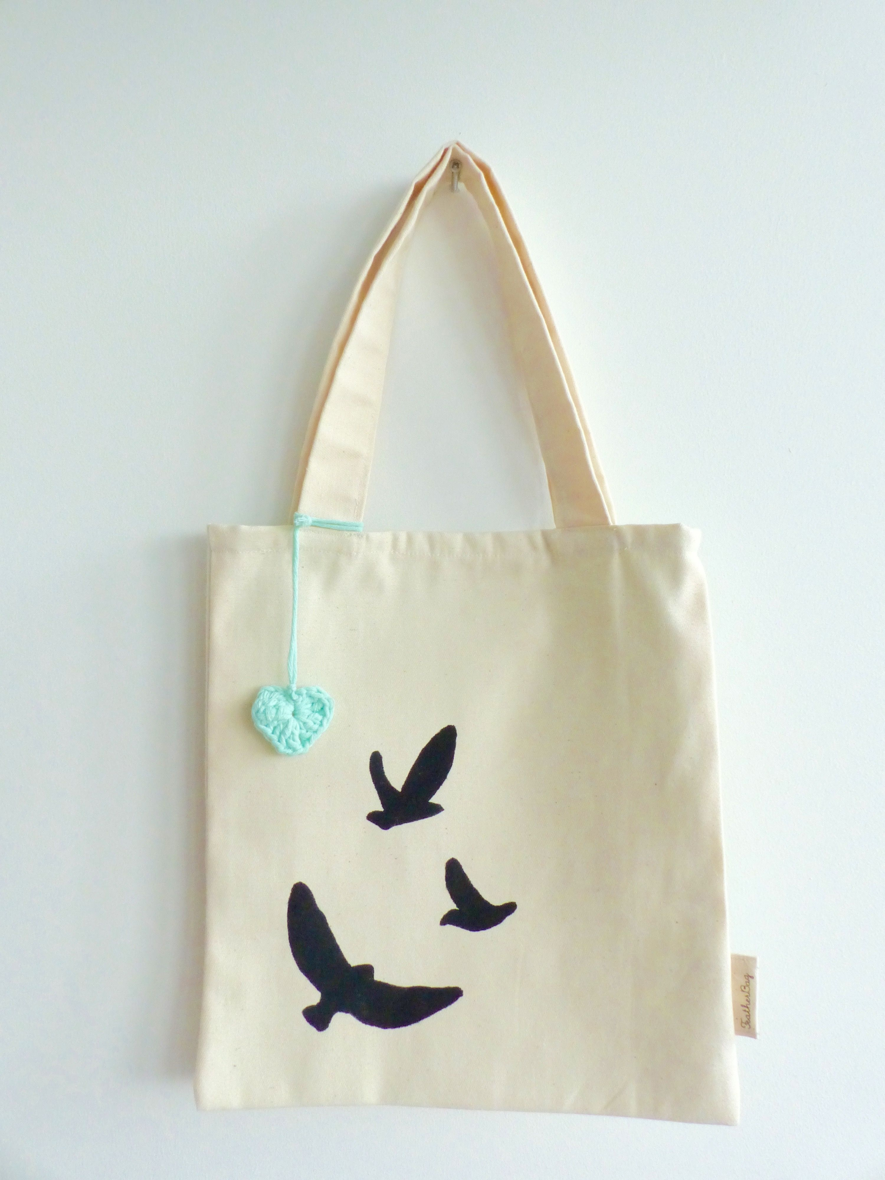 Tote bag birds by Featherbag
