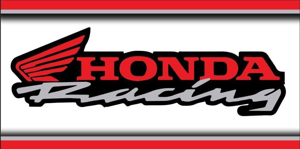 Honda Racing Genuine Logo 2x4 Motorcycle Bike Garage Shop Vinyl Banner Sign Art Vinyl Banners Motorcycle Bike Logos