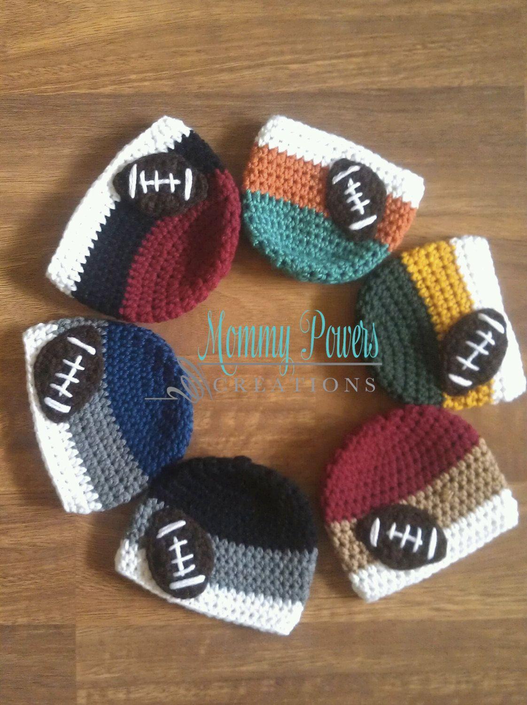 16aaea4222c San Francisco 49ers Crochet Football Hat by MommyPowersCreations ...