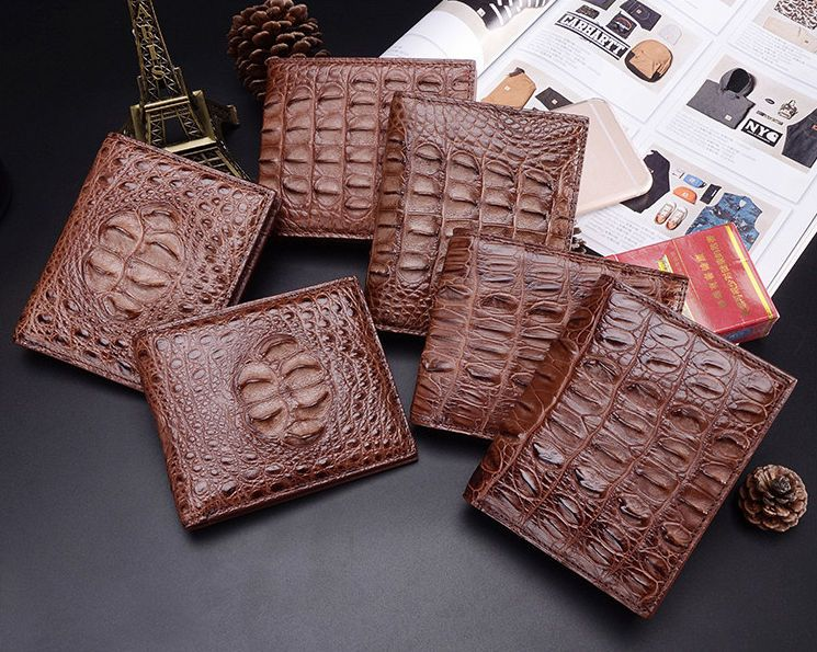 Crocodile leather clutch Crocodile Leather Wallet Crocodile Skin Handmade Long Wallet