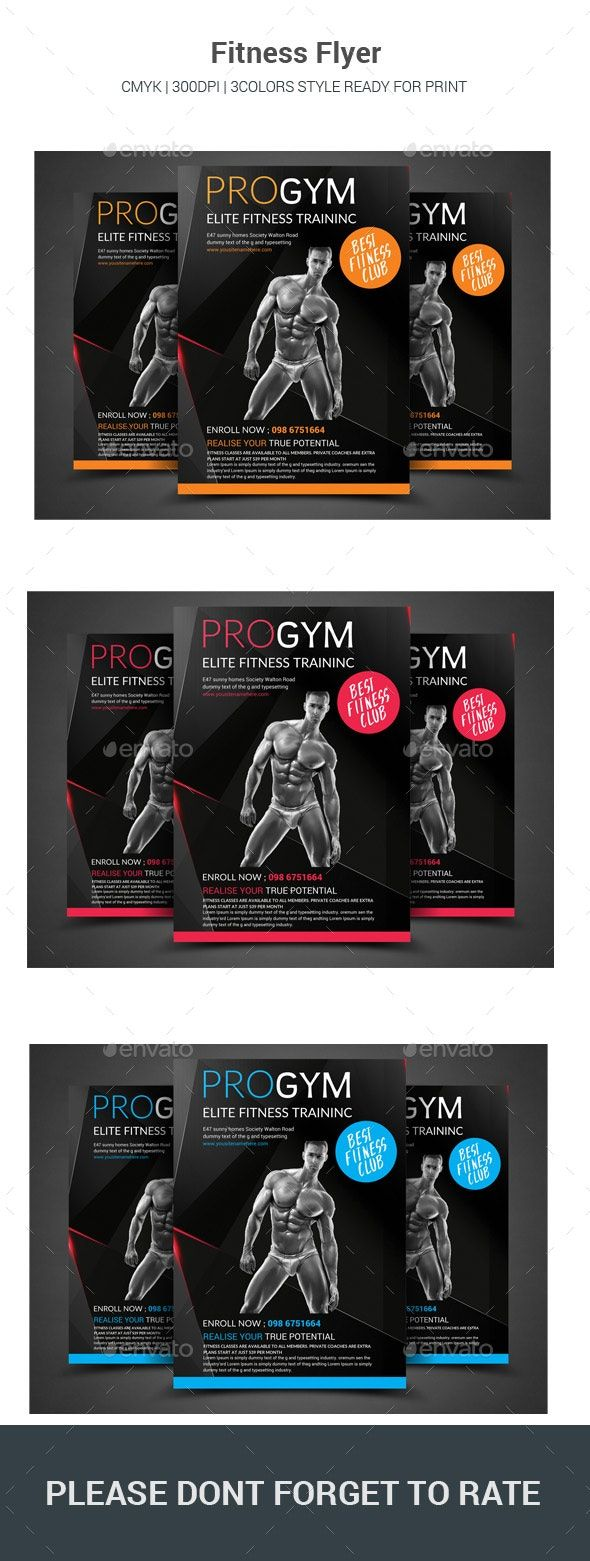 Fitness Flyer #AD #Fitness, #AFFILIATE, #Flyer