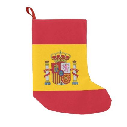 Christmas Stockings with Flag of Spain | Zazzle.com ...