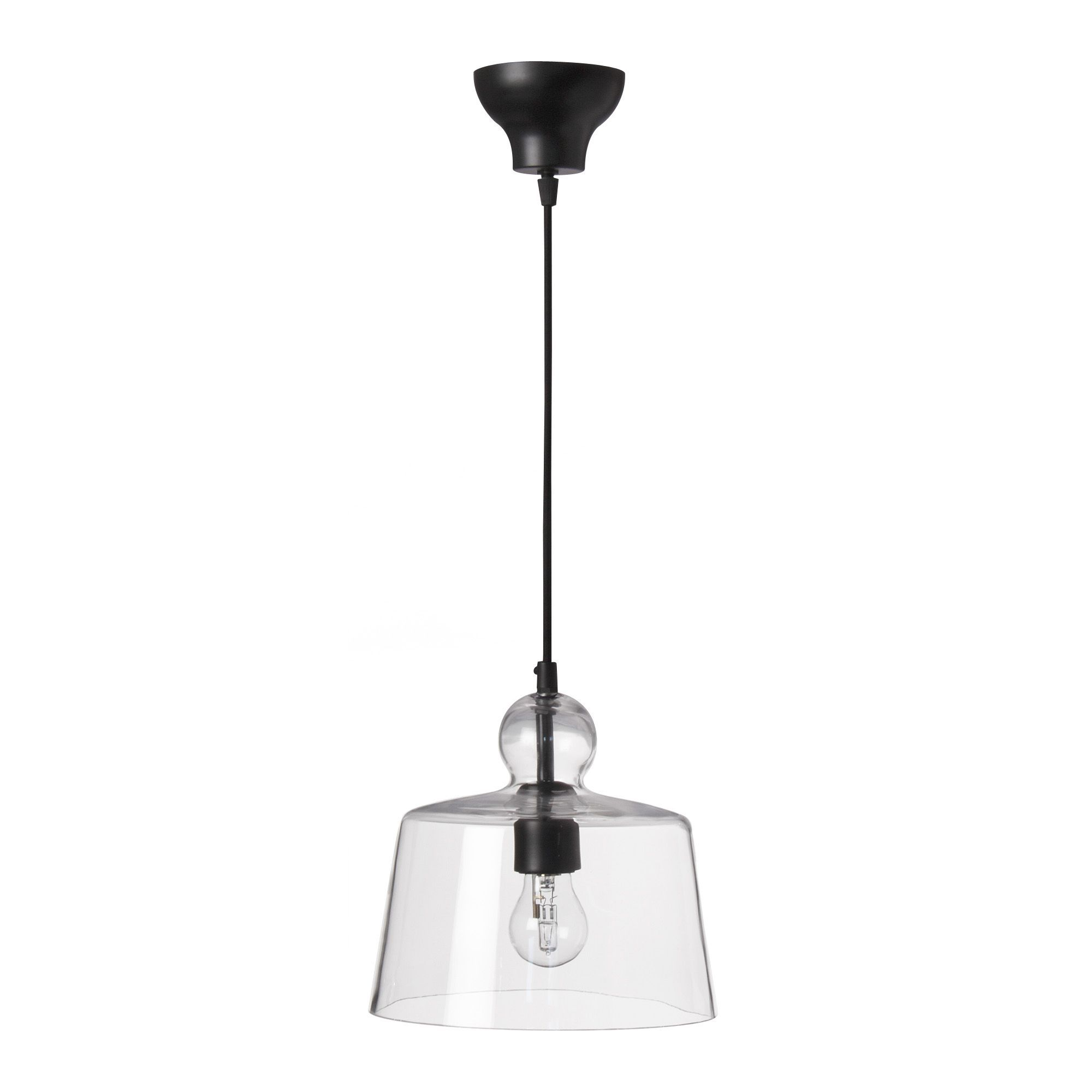 Suspension lumineuse en verre transparent verone for Suspension luminaire salon