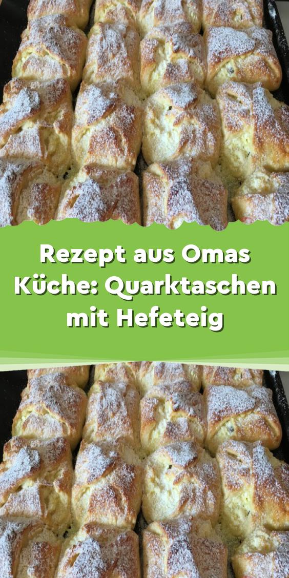 Rezept aus Omas Küche: Quarktaschen mit Hefeteig #süßesbacken