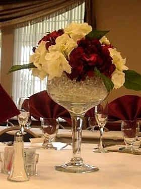 extra large wine glasses for centerpieces | ... what they did with those big