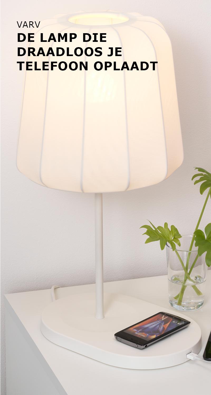 Varv De Lamp Die Draadloos Je Telefoon Oplaadt Ikea Ikeanl