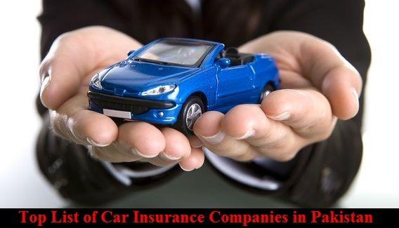 Top List of Car Insurance Companies in Pakistan, Top List of Car