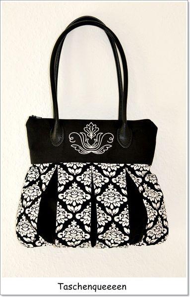 Handtasche - OktoberNacht - elegante Handtasche Karlotta 2 - ein Designerstück von Taschenqueeeen bei DaWanda