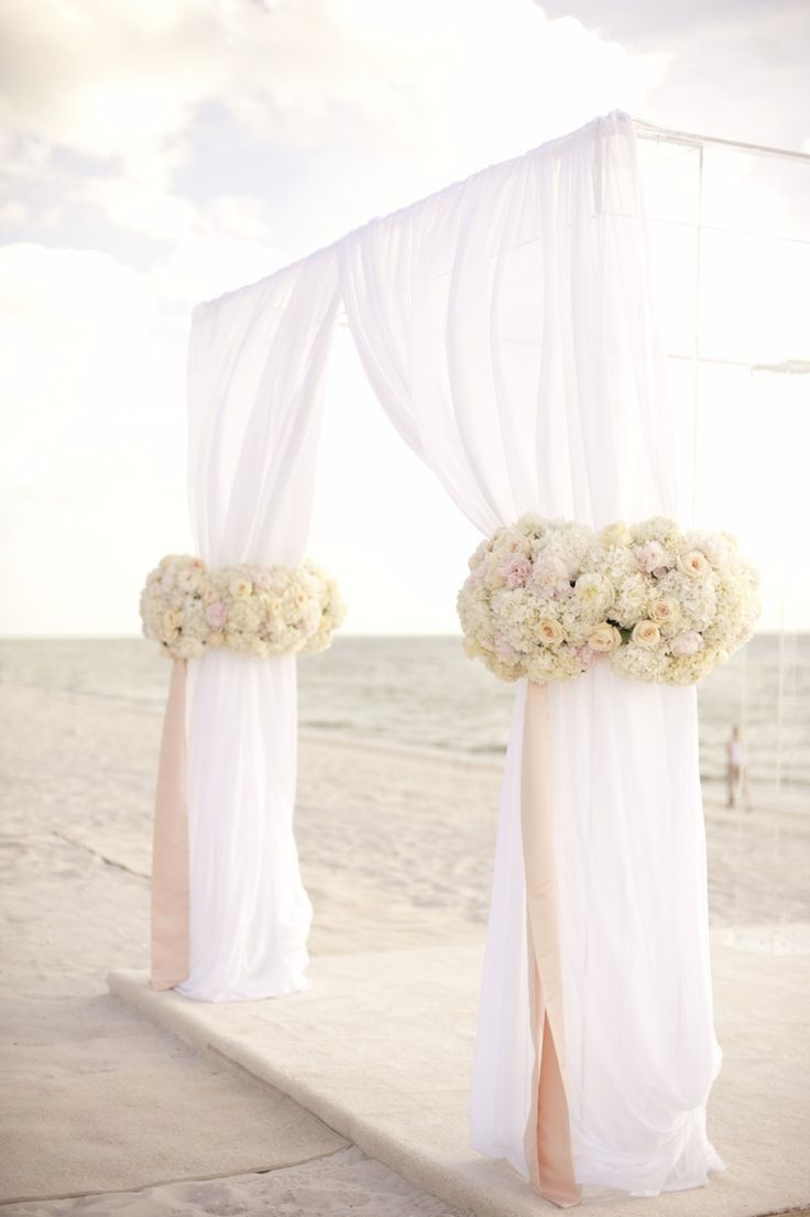 Beach wedding idea  Color Inspiration Ines Di Santo  Blush Wedding Ideas  Pinterest
