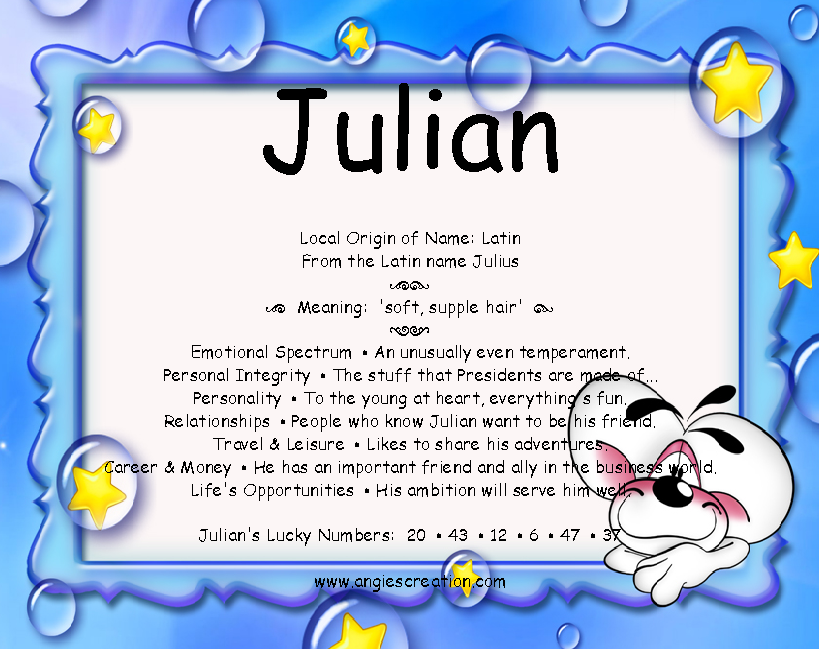 Italian Boy Name: Angies Creation: Search Results For Julian