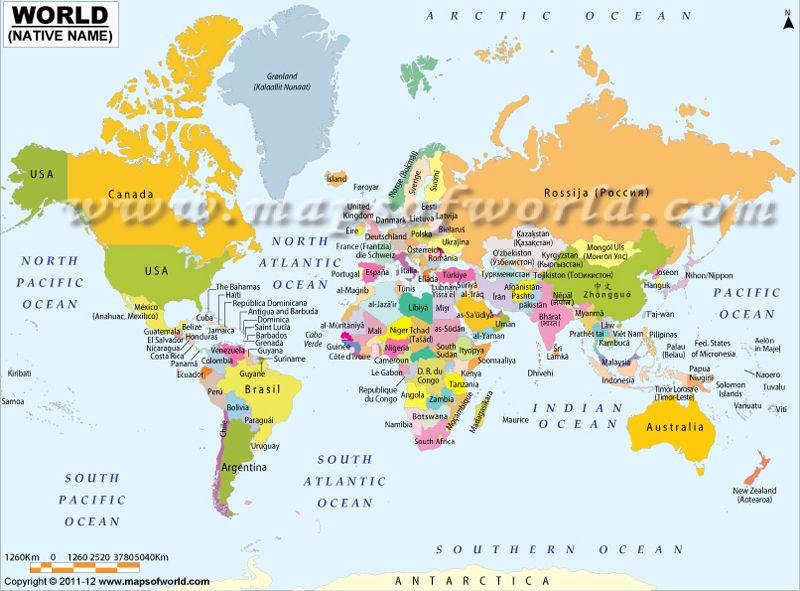 World map showing country names in their native language lite world map showing country names in their native language gumiabroncs Image collections