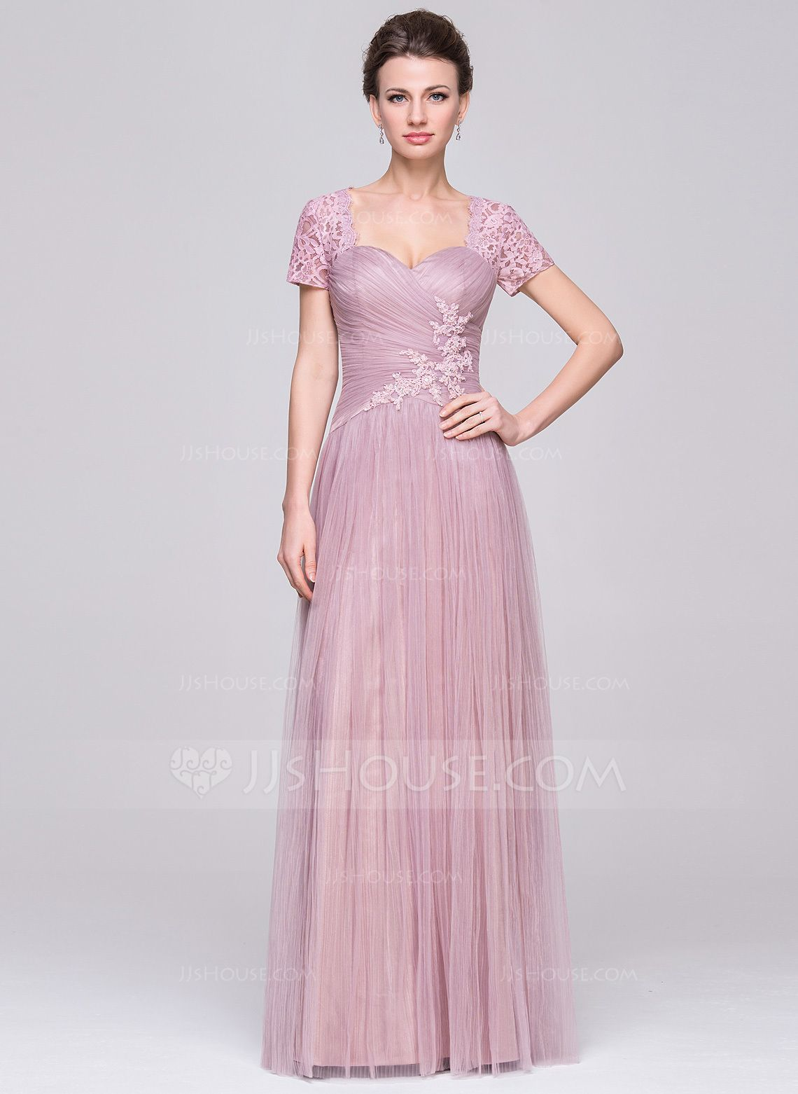 A-Line/Princess Sweetheart Floor-Length Tulle Mother of the Bride ...