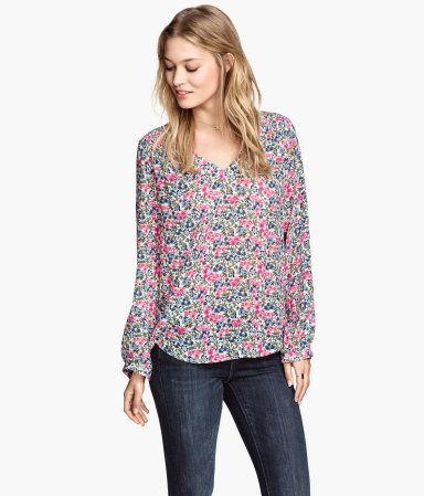 H&M Gemusterte Bluse 19,99