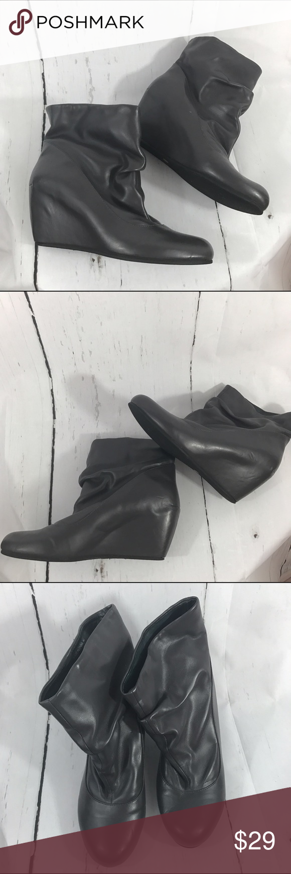 """💜💜 WEDGE ANKLE BOOTIES B3 Does not come with original box. Aldo Size 40 which is a 9 Condition: Has minimal marks/ nicks  Heel height: 3""""  Material: unknown  Item location: bin 3   **bundles save 10%** no trades/no modeling/no asking for lowest Aldo Shoes Ankle Boots & Booties"""