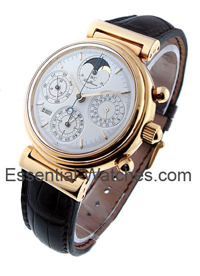 IWC IW375003  Da Vinci Perpetual Calendar - Yellow Gold on Strap with White Dial     Certified Preowned   Item ID - 15612 Model # - IW375003 Case - 18KT Yellow Gold Case Size - 41.5mm Movement - Automatic Dial - White Dial Bracelet - Strap Retail Price - $24,300 Your Price - $18,963