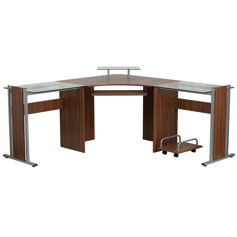 Flash Furniture Corner Computer Desk, Flash Furniture L Shaped Computer Desk With Pullout Keyboard Tray