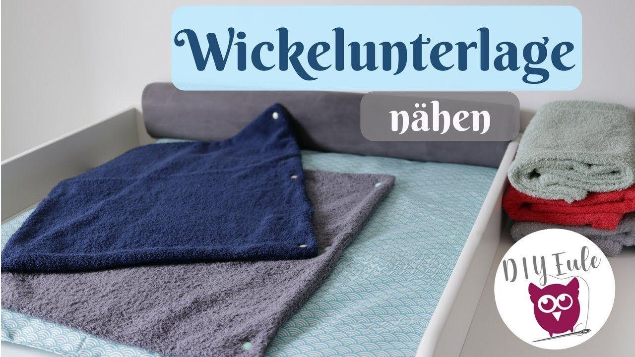 Wickelunterlage / Wickelauflage für den Wickeltisch nähen