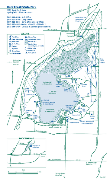 State Parks Ohio Map.Buck Creek State Park Map Maps Local Pinterest State Parks