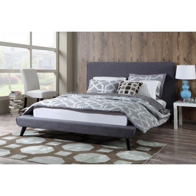 Tov Furniture -Nixon Grey Linen Bed in Queen | home, bed rm ...