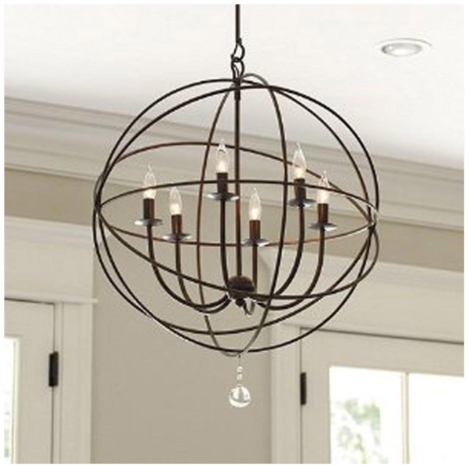 Orb Chandalier By Ballard Designs Pendant Bronze Sphere Orb Chandelier Orb Light Orb Light Fixture