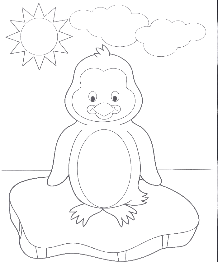 a very cute baby penguin coloring pages penguin coloring pages - Baby Arctic Animals Coloring Pages
