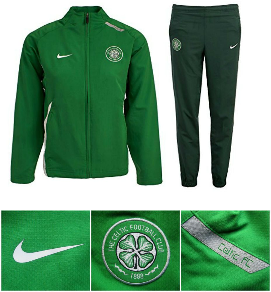 63360051 Celtic FC Junior Boys Girls Nike Training Zip Tracksuit Kids Top Bottoms  RRP £39 #Nike #Tracksuit
