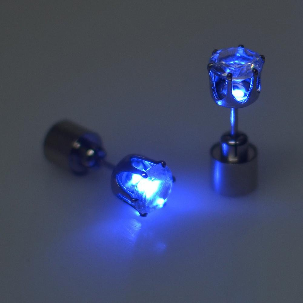 4f32a76050e64 LED Bling Fashion Party Accessories - Light Up LED Bling Ear Studs ...